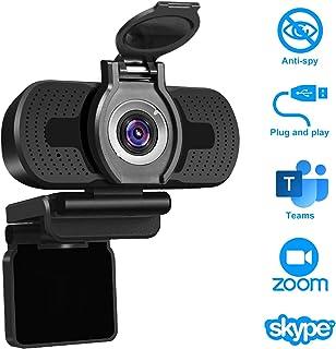 LarmTek Cámara web 1080P Full HD con cubierta de cámara