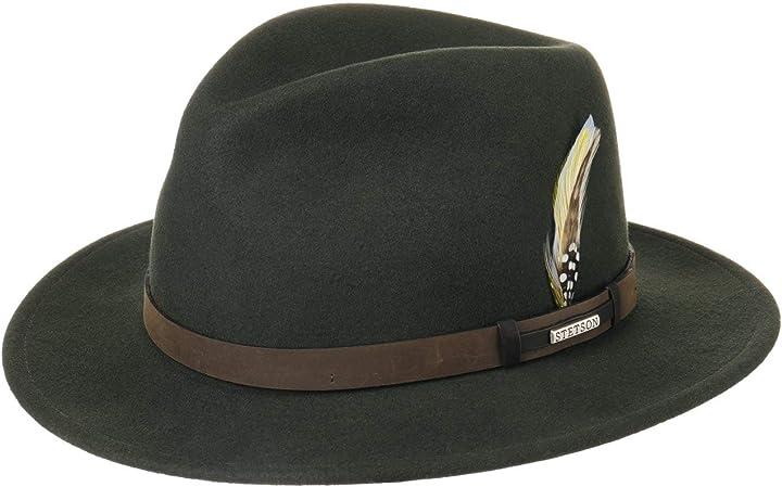 Cappello vitafeltby donna/uomo - made in usa nastro pelle cappellini da golf stetson sardis 2528005