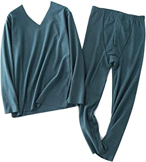 YOUCAI Men's Seamless Thermal Underwear Set Thicken Winter Suit Base Layer Tops & Thermal Bottoms Leggings