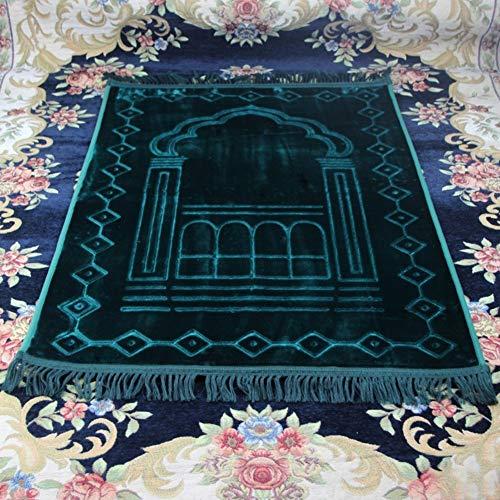 Studyset - Alfombra de Rezar, tapete de oración para Viajes, Grueso, cojín Supersuave para Rezar Musulmana, 80125 cm