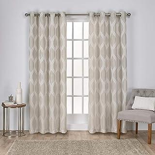 Exclusive Home Curtains Montrose Grommet Top Panel Pair, Linen, 54x108, 2 Piece