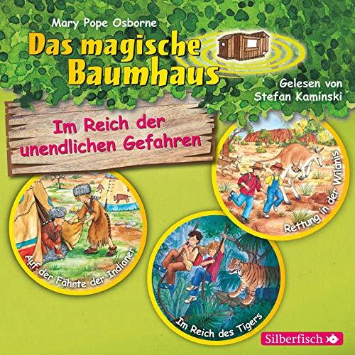 Im Reich der unendlichen Gefahren. Die Hörbuchbox (Das magische Baumhaus): Auf der Fährte der Indianer / Im Reich des Tigers / Rettung in der Wildnis : 3 CDs