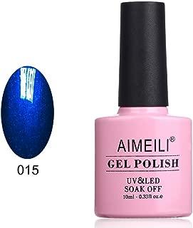 AIMEILI Soak Off UV LED Gel Nail Polish - Midnight Swim (015) 10ml