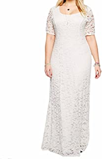 49ec3048cb Samtree Womens Full Lace Plus Size Bridesmaid Wedding Cocktail Party Maxi  Dress