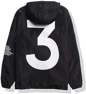Men Waterproof Letter Print Jacket Hip-Pop Long Sleeve Anti-Sun Hoodie Streetwear(2 Colors, S-XL)