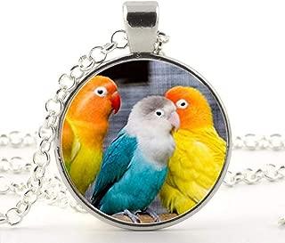 Rétro Bronze Cristal Strass Émail Oiseau Perroquet Pendentif Chaîne Collier Sautoir Cadeau