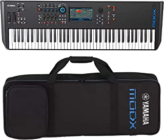 Yamaha MODX7 76-Key Semi-Weighted Action Keyboard Synthesizer with Yamaha MODX7 Soft Case