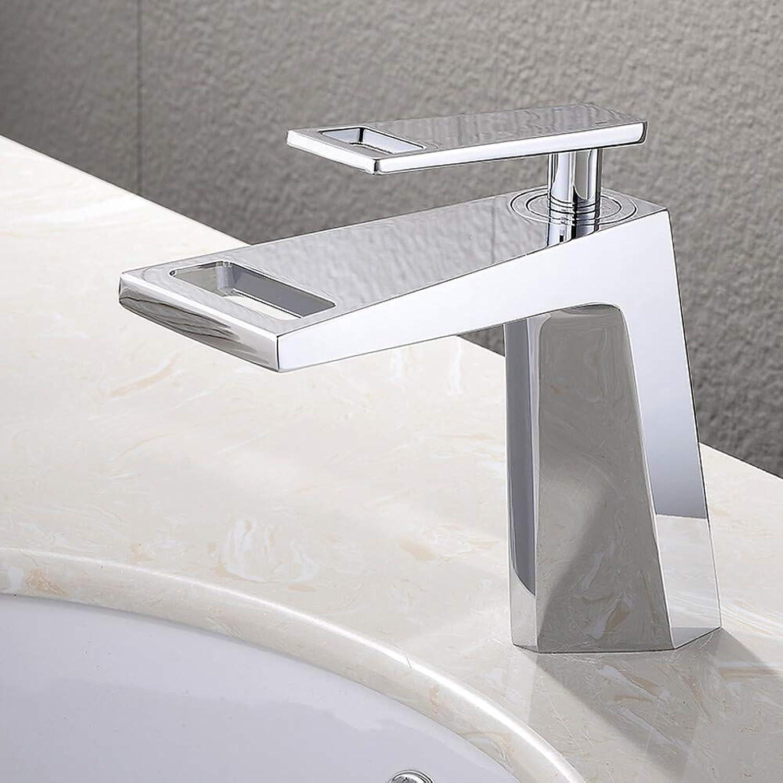 Novopus Wasserhahn:Waschbecken Wasserhahn - Wasserfall Chrom deckenmontiert Einhand Ein Loch