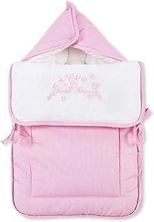 Fuß  und Kuschelsack mit Gurtschlitz von Kleiner Prinz oder Kleine Prinzessin in 3 Farben erhältlich, Farbe:Rosa, Motiv:Kleine Prinzessin
