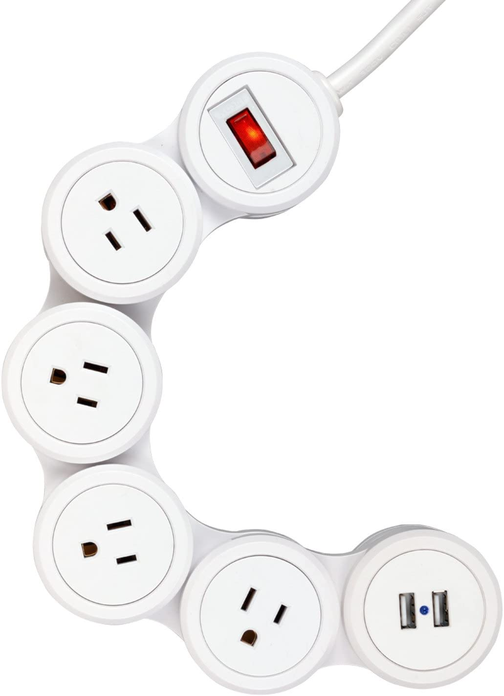 Chicago Mall Globe Electric Surge Protector Strip 3-Pin Special price for a limited time Grounded Outlets 4X