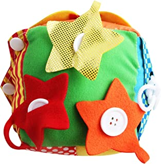 Generic Funny Cloth Cube Life Skill Educational Developmental Baby Toddler Toy