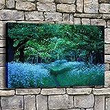 Leinwandbilder Bilder Wohnzimmer Wandkunst Mystical Forest