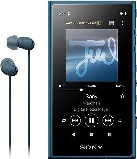 Sony 索尼 Walkman 16GB A系列 NW-A105HN : 支持高解析度/ MP3播放器/搭载蓝牙/搭载android/microSD对应 触摸屏 最长可连续播放26小时360 Reality Audio模式 蓝色 NW-A105...