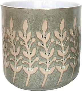Blue Sky Ceramic Rusted Leaves 6.5' Flower Pot, Multi Color