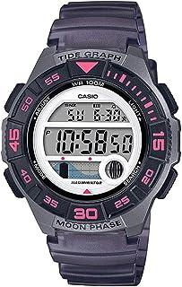 Casio Womens Quartz Watch, Digital Display and Resin Strap LWS-1100H-8AVDF