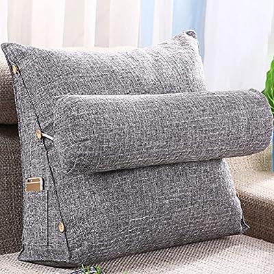 【Excelente calidad】 Esta cabecera de cama con almohada lumbar tiene un relleno de fibra de poliéster de alta calidad para brindar un respaldo estable y una sensación de comodidad mientras lee, se relaja y ve la televisión en su cama o sofá. El cojín ...