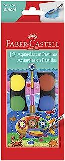 Aquarela em Pastilha 12 Cores, Faber-Castell