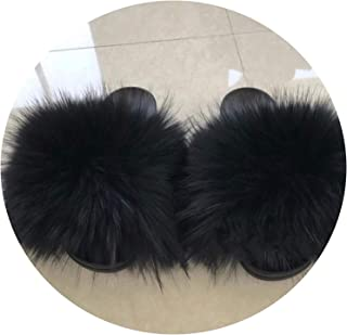 Surprise S Slide for Women Cut Slippers Fluffy Sliders Plush Ry Summer Flats Sweet Ladies Shoes Big Size 36-45