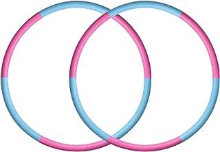 SKL Hula Hoop for Kids Adults 25.6-29.5 Inch Detachable Size Adjustable Design Kids Hula Hoop