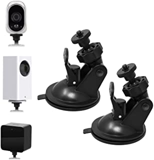 Security Camera Suction Cup Wall Mount For Wyze Cam Pan/Oculus Sensor/HTC Vive Base Station/Arlo and Other Camera, Swivel ...