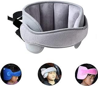 StoHua Child Car Seat Head Support - Baby Safety Car Seat Neck Relief Holder, Kids Travel Nap Helper Adjustable (Grey)
