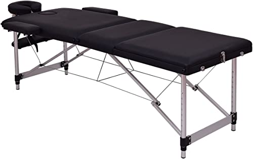 """high quality Giantex 72"""" high quality L Portable Massage sale Table Aluminum Facial SPA Bed Tattoo w/Free Carry Case (Black) online sale"""
