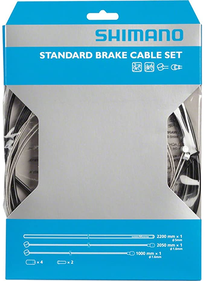 Road Bike Fitting New SHIMANO Stainless Steel Brake Cables x 2