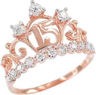 quinceanera rings rose gold
