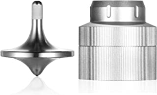 Loqatidis Sensory Fidget Toys, Luxury Aviation Precious Titanium Alloy Perfect Balance Spinning Top, Aluminum Alloy Packin...