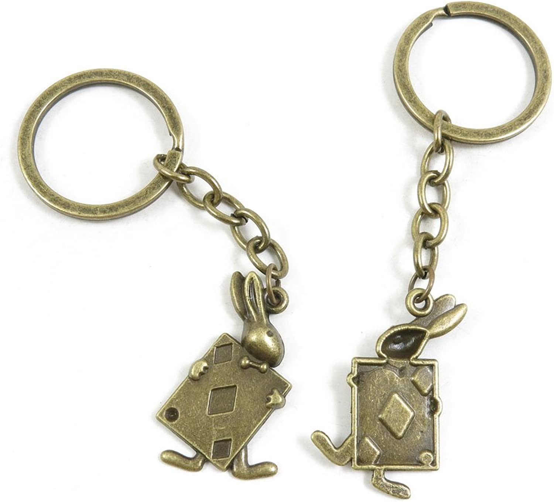 150 Pieces Fashion Jewelry Keyring Keychain Door Car Key Tag Ring Chain Supplier Supply Wholesale Bulk Lots N3LK1 Poker Rabbit