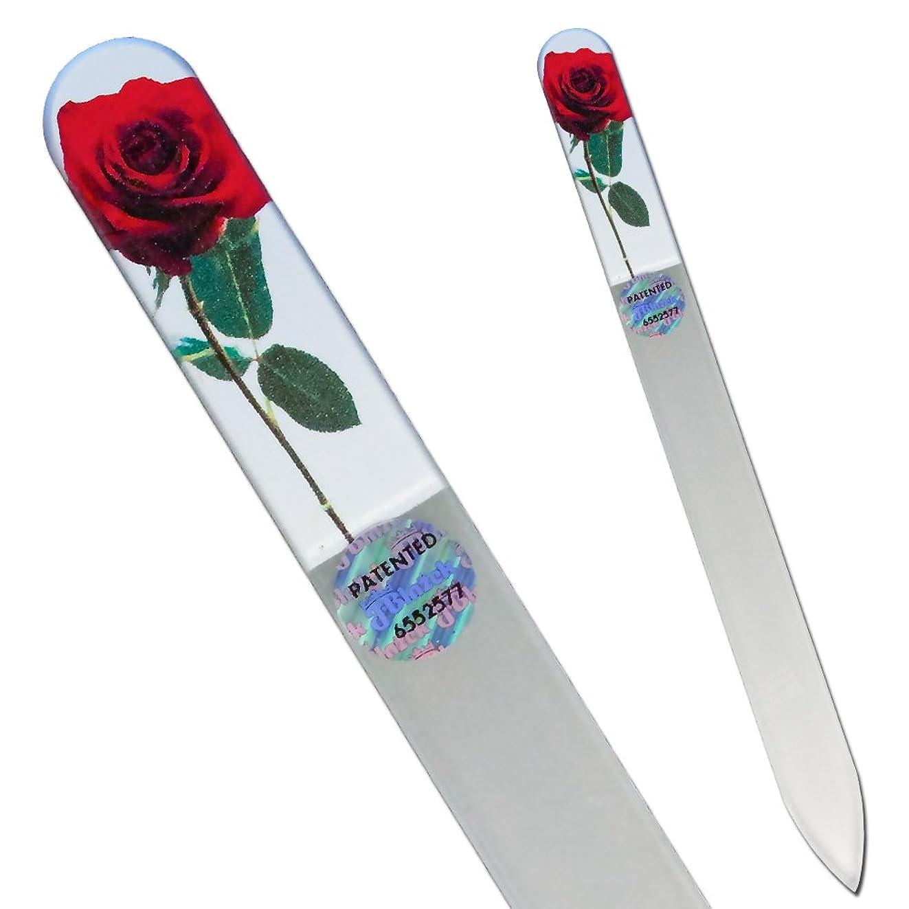 略語会計士おばさんブラジェク ガラス爪やすり 140mm ローズ04フォト両面タイプ[Rose04]