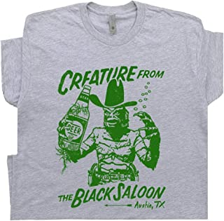 Creature from The Black Saloon T Shirt Famous Austin Texas Dive Bar Boars Nest Tavern Pub Tee Cool Vintage Graphic