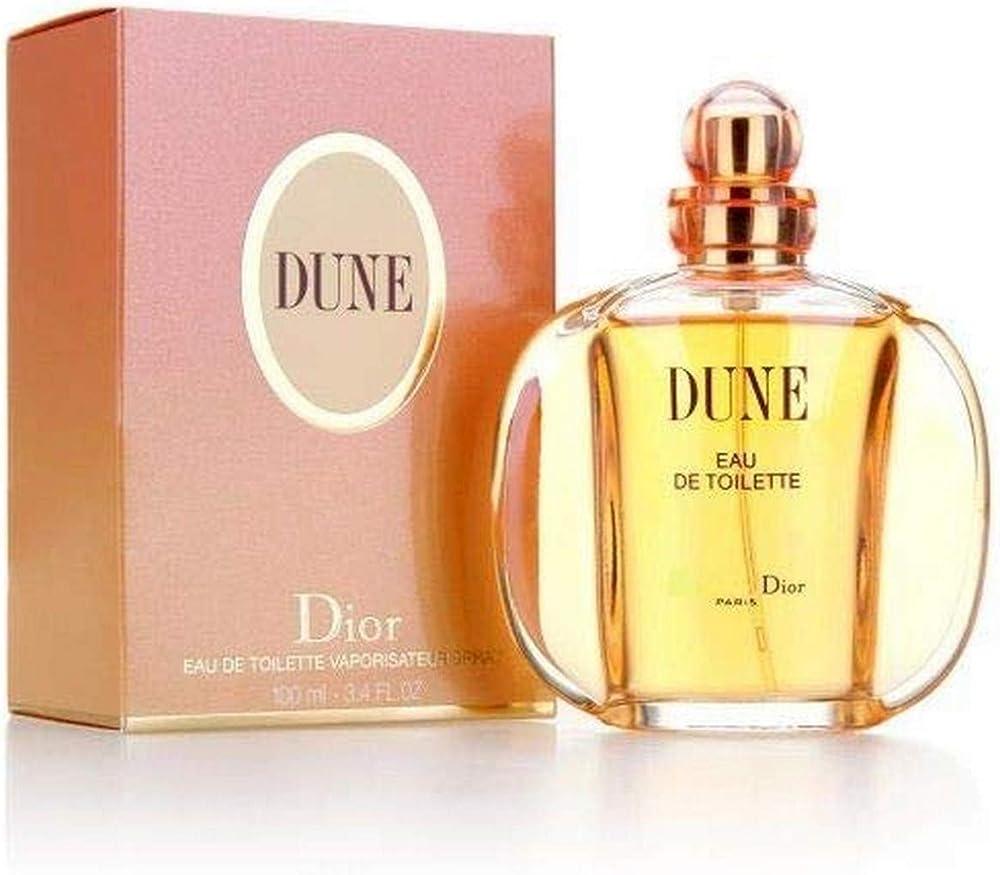 Christian dior dune, eau de toilette,profumo per donna, 100 ml 126214