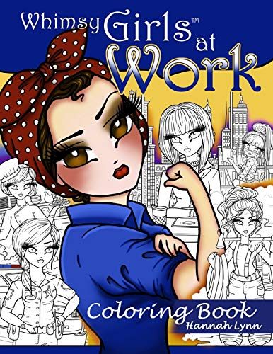 Whimsy Girls at Work Coloring Book