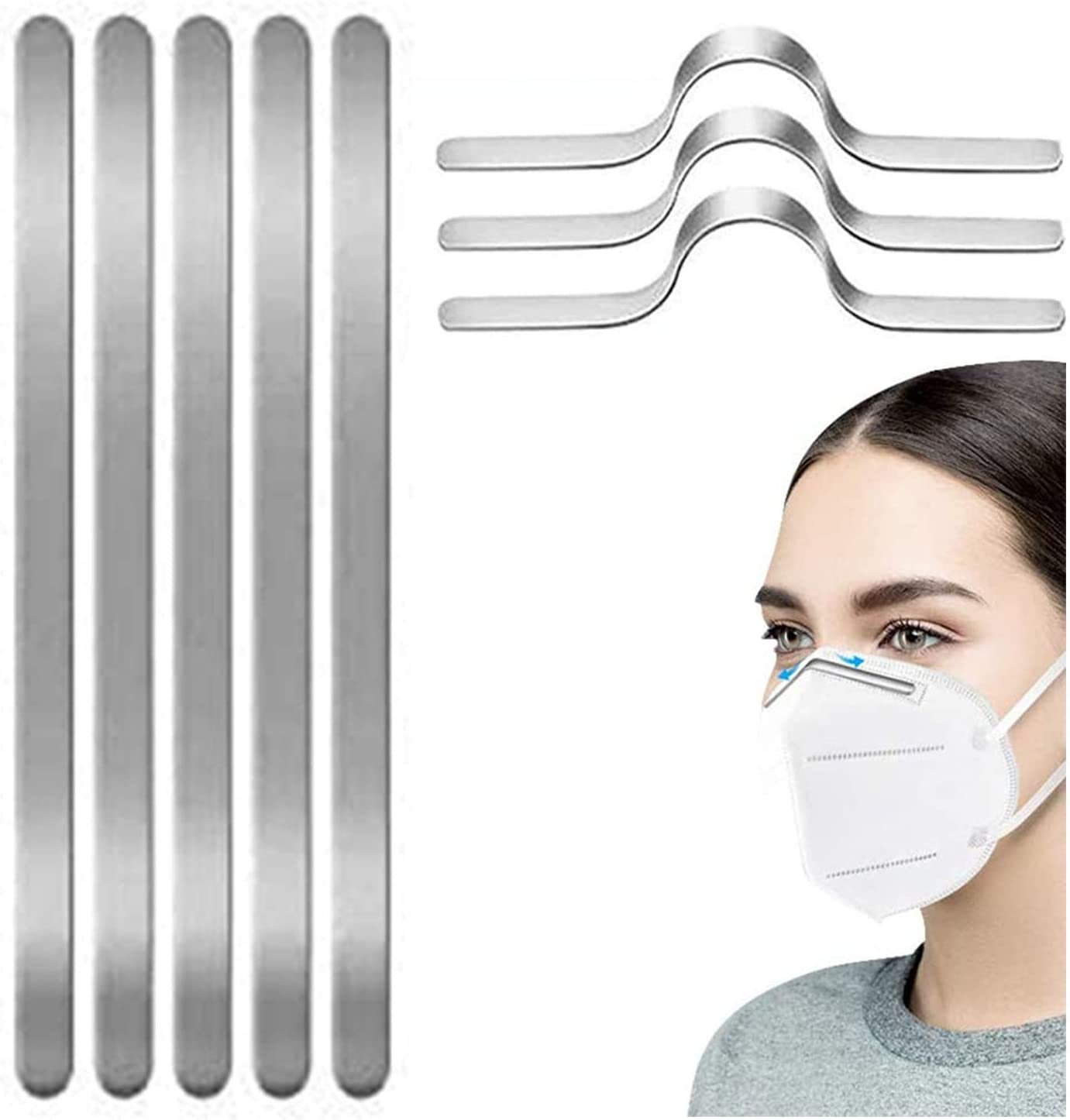100PCS Max 75% OFF Nose Bridge for Limited time trial price Mask Aluminum Wire - Metal Strips