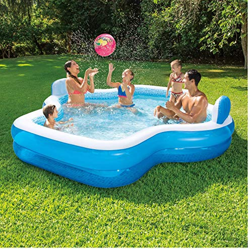 Member's Mark Elegant Family Pool 10 Feet Long 2 Inflatable Seats with Backrests