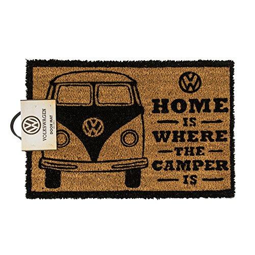 Fußmatte - VW Camper | Fußabtreter Haustür | Türvorleger mit Motiv | Schmutzmatte Eingangsbereich | Geschenk für Männer | Preis am Stiel®