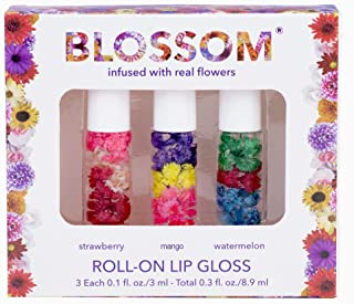 Blossom Roll-On LIP GLOSS Set Strawberry/Mango/Watermelon