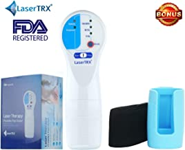 LaserTRX Cold Laser Pain Relief Device – Red Light Therapy for Home Use Kit - New Technology Combining Low-Level Laser Therapy (LLLT), Red Light, Infrared & Static Magnetic Field - Free Gift Included