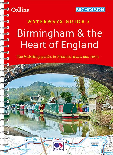Birmingham & the Heart of England - No. 3 (Collins Nicholson Waterways Guides) -  Collins Maps, Spiral-bound