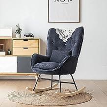 IOUYRRN Fauteuil Modern Lounge Fauteuil Single Sofa Stoel Gestoffeerde Microfiber Lamb Wool Dutje Chair-C (Color : E)