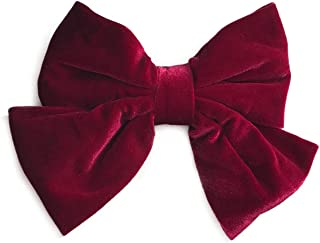 ANYA accessories large velvet bow barrette | hair clip | french clasp (Cranberry)