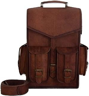 The Leather Bags Vintage Bag Leather Handmade Vintage Style Backpack/College Bag
