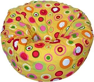 Products Orange Velvet Microsuede Washable Kid Bean Bag Chair Ahh
