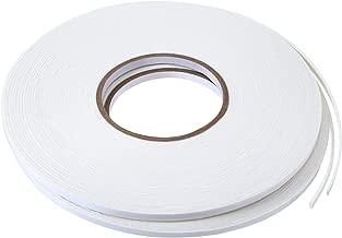 2 Rolls Double Sided Foam Tape White PE Foam Tape Sponge Soft Mounting Adhesive Tape (3/4 inch by 50 Feet) (1/4 inch by 50 Feet)