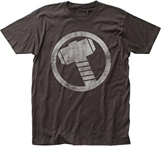 Thor Hammer Distressed Icon Fitted T-shirt