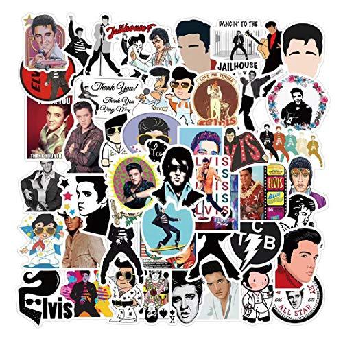 JUNZE Elvis laptop luggage creative graffiti personality waterproof stickers 50 sheets