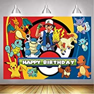 Cartoon Animals Photography Backdrop Colorful Animal Party Children Happy Birthday Supplies Party Banner (5x3FT)