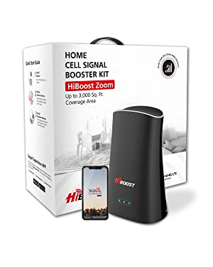 HiBoost Cell Phone Signal Booster for Home and Office - Signal Booster Up to 800-3,000 Sq. ft - Compatible with AT&T, T-Mobile, Verizon, Sprint, and US Cellular