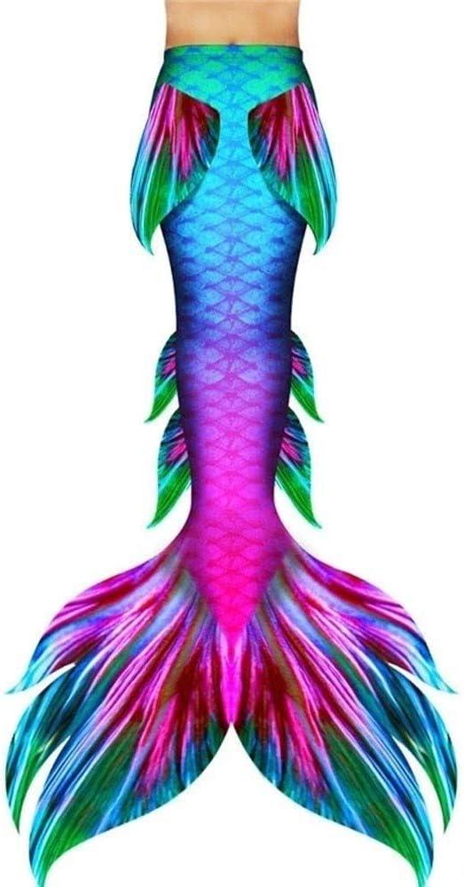 RTYU Mermaid Swimsuit with Monofin,Bikini Swimming Costumes with